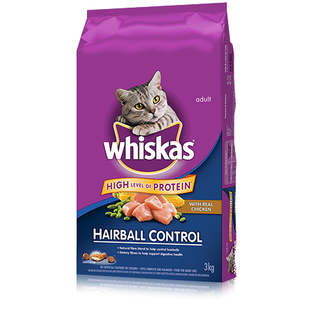 WHISKAS<sup>&reg;</sup> Hairball Control with Chicken