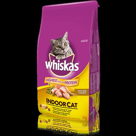 WHISKAS<sup>®</sup> Indoor Cat with Chicken