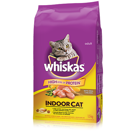 WHISKAS<sup>®</sup> Indoor Cat with Chicken