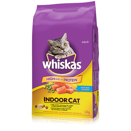 WHISKAS<sup>®</sup> Indoor Cat with Salmon