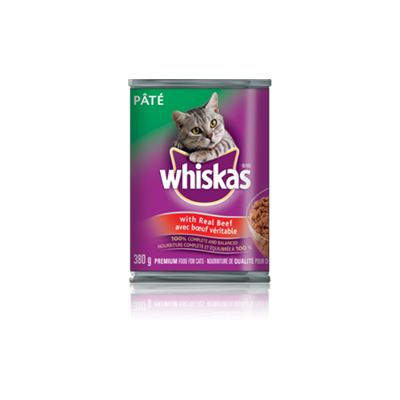 WHISKAS<sup>®</sup> Pate with Real Beef