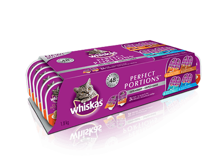 WHISKAS<sup>®</sup> Perfect Portions™  24 Variety  Pack
