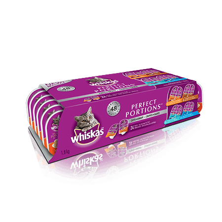 WHISKAS<sup>®</sup> PERFECT PORTIONS<sup>®</sup>  24 Variety  Pack