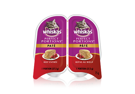 WHISKAS<sup>®</sup> Perfect Portions™ Paté Beef Entrée