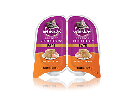WHISKAS<sup>®</sup> Perfect Portions Chicken Pate Entrée