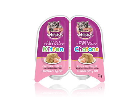 WHISKAS<sup>®</sup> Perfect Portions™  Kitten Chicken Pate Entrée
