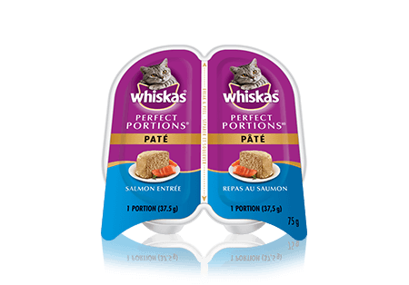 WHISKAS<sup>®</sup> Perfect Portions Salmon Pate Entrée