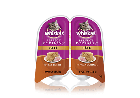 WHISKAS<sup>®</sup> Perfect Portions Turkey Pate Entrée