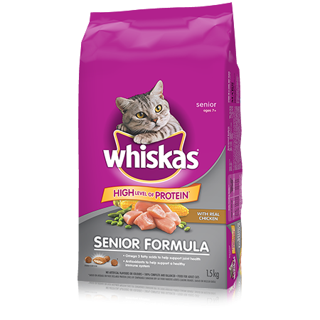 WHISKAS<sup>®</sup> Senior Formula with Chicken