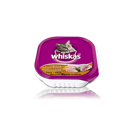 WHISKAS<sup>®</sup> Turkey and Giblets Dinner Pate