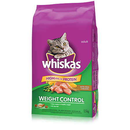WHISKAS<sup>®</sup> Weight Control with Chicken