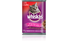 WHISKAS CUTS with Real Chicken and Liver in Sauce
