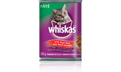 WHISKAS Pate with Real Beef