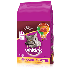 WHISKAS® Dry Cat Food Beef Flavour