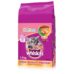 WHISKAS® Dry Kitten Food With Real Chicken