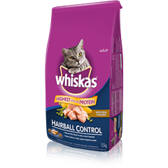 WHISKAS Hairball Control with Chicken