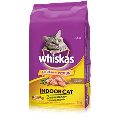WHISKAS Indoor Cat with Chicken