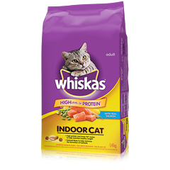 WHISKAS Indoor Cat with Salmon