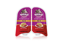 WHISKAS Perfect Portions™ Paté Beef Entrée