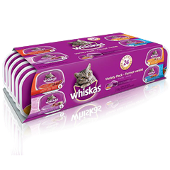 WHISKAS® Recloseable Tray 24 Variety Pack