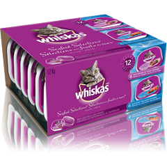 WHISKAS® Recloseable Tray SEAFOOD SELECTIONS®
