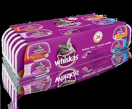 WHISKAS<sup>MD</sup> en barquette refermable format variété 24 unités