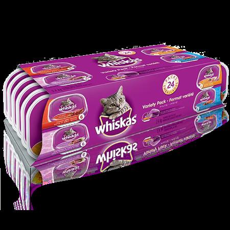 WHISKAS<sup>MD</sup> en barquette format variété 24 unités