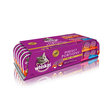 WHISKAS<sup>MD</sup> PERFECT PORTIONS<sup>MC</sup> format variété 24 unités