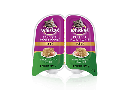 WHISKAS<sup>MD</sup> Perfect Portions<sup>MC</sup> repas au poulet et au foie