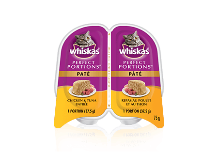 WHISKAS<sup>MD</sup> Perfect Portions<sup>MC</sup> repas au poulet et au thon