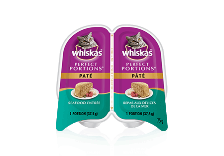 WHISKAS<sup>MD</sup> Perfect Portions<sup>MC</sup> Paté Seafood Entrée