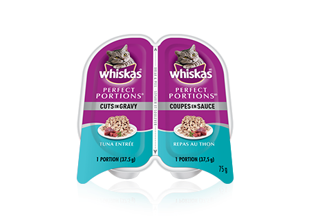 WHISKAS<sup>MD</sup> Perfect Portions<sup>MD</sup> coupes en sauce repas au thon