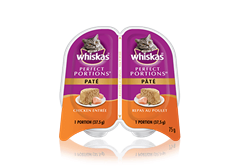Repas au poulet WHISKAS<sup>MD</sup> Perfect Portions<sup>MC</sup> pâté
