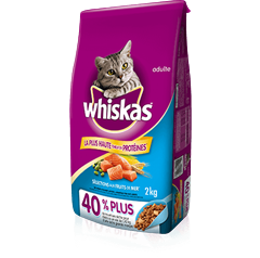 WHISKAS<sup>MD</sup> SELECTIONS AUX FRUITS DE MER<sup>MD</sup> avec saumon