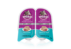 WHISKASMD PERFECT PORTIONSMD coupes en sauce repas au thon