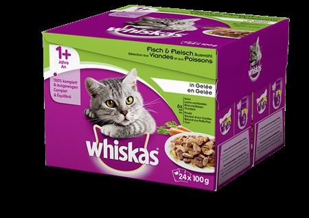 Whiskas Sélection aux viandes et poissons en Gelée