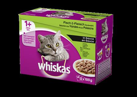 Whiskas 1+ Sélection aux Viandes et Poissons en sauce