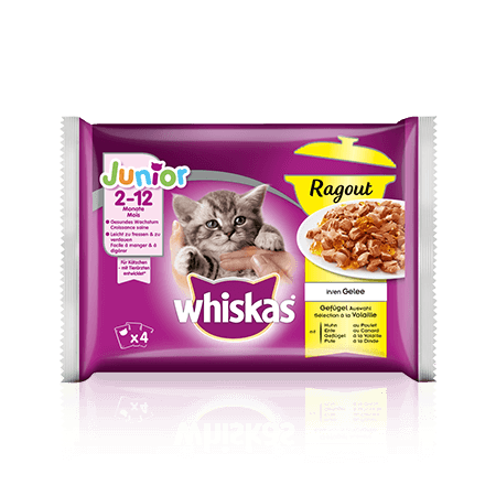 Whiskas Ragout Junior Sélection à la Volaille