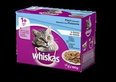 Whiskas<sup>®</sup> 1+ Sélection aux Poissons en Gelée