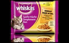 Whiskas<sup>®</sup> Cuisine Tendresse Simplement Bon Passé au gril à la Volaille en Gelée