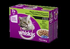Whiskas® 7+ Sélection aux viandes et poissons en sauce