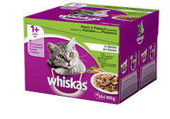 Whiskas<sup>®</sup> Sélection aux viandes et poissons en Gelée