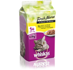Whiskas<sup>®</sup>  Fresh Menue à la Volaille en Sauce