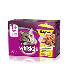 Whiskas<sup>®</sup> Ragout en Gelée Sélection à la Volaille 12x85g
