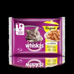 Whiskas® Ragout en Gelée Sélection à la Volaille 4x85g
