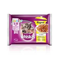 Whiskas<sup>®</sup> Ragout Junior Sélection à la Volaille
