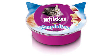 Whiskas Temptations mit Lachs