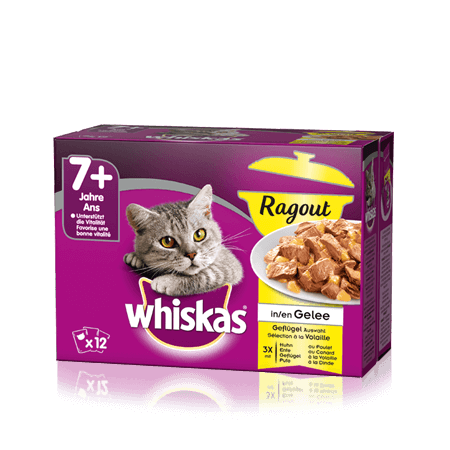 Whiskas 7+ Ragout in Gelée Geflügel