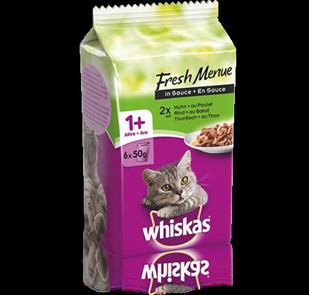 Whiskas Fresh Menue Mixed Auswahl in Sauce
