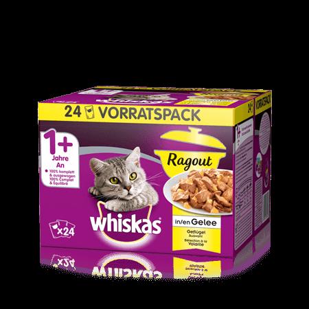 Whiskas Ragout in Gelée Geflügel Auswahl 24x85g